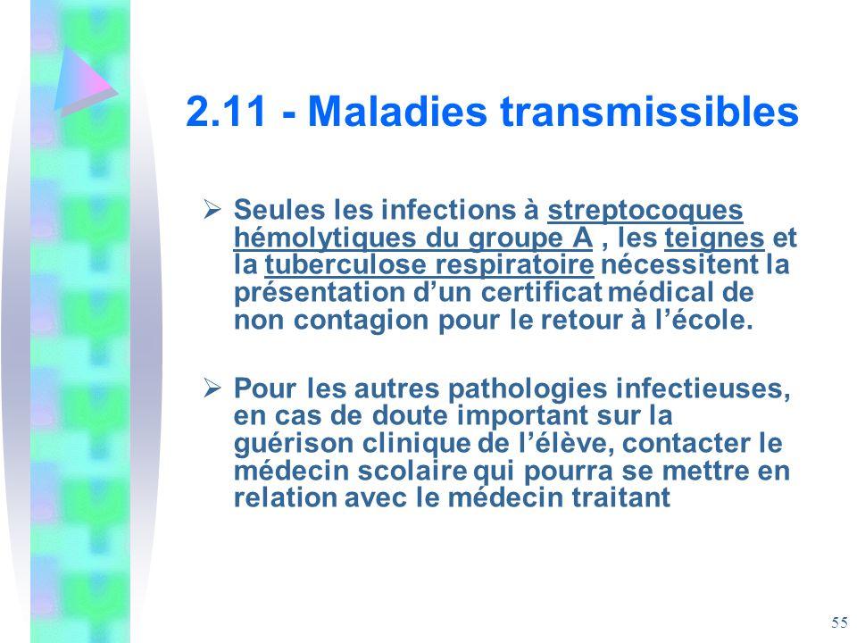 2.11 - Maladies transmissibles