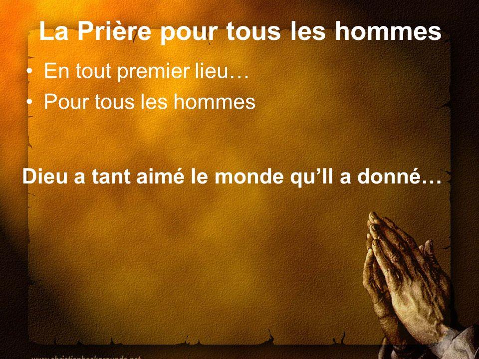 La Prière pour tous les hommes