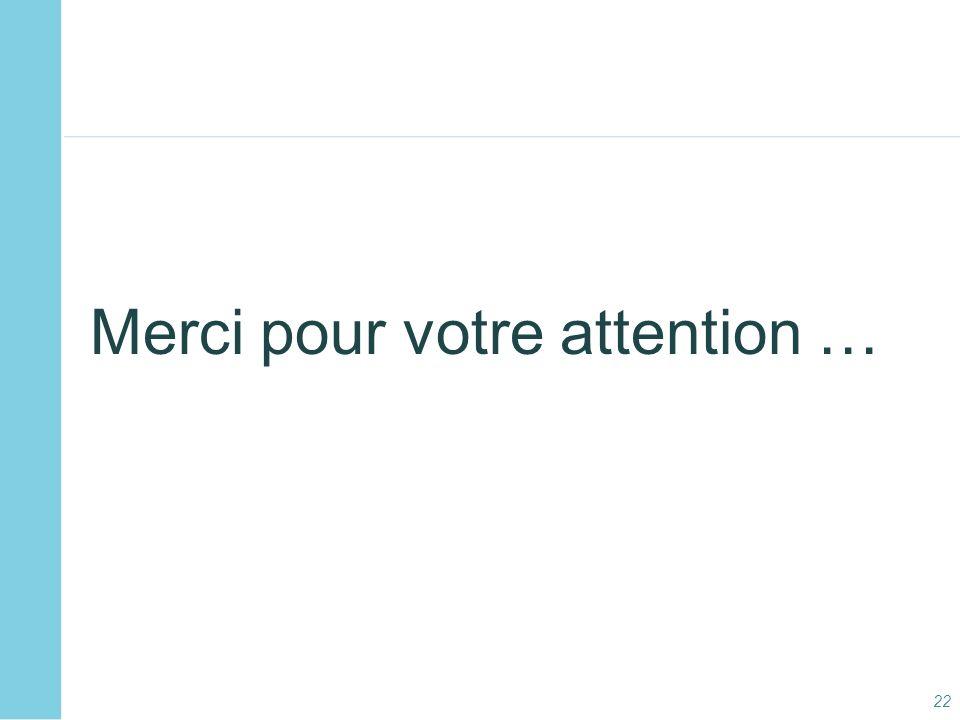 Merci pour votre attention …