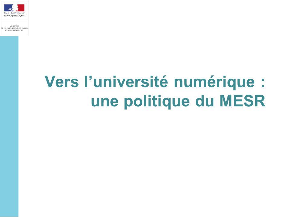 Vers l'université numérique : une politique du MESR