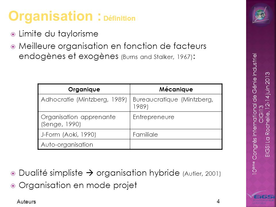 Organisation : Définition