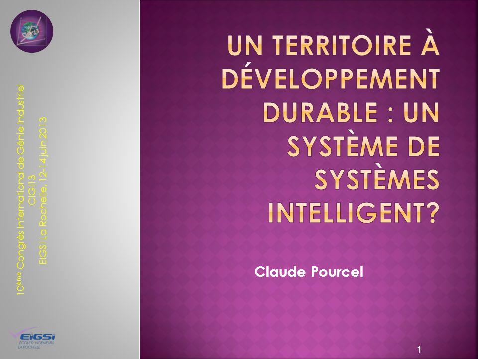 Un territoire à développement durable : un système de systèmes intelligent