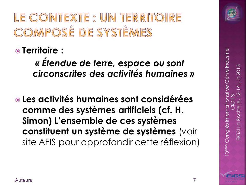Le contexte : un territoire composé de systèmes