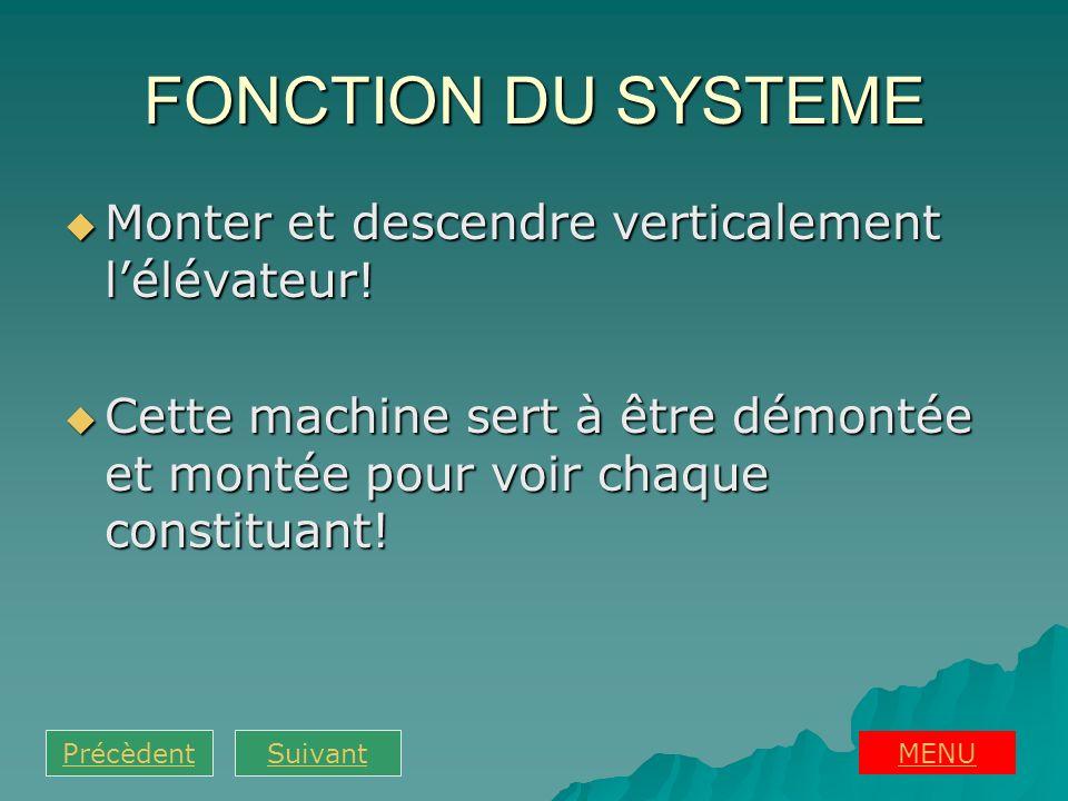 FONCTION DU SYSTEME Monter et descendre verticalement l'élévateur!