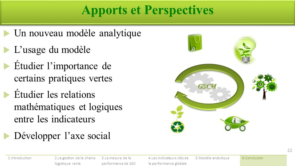Apports et Perspectives