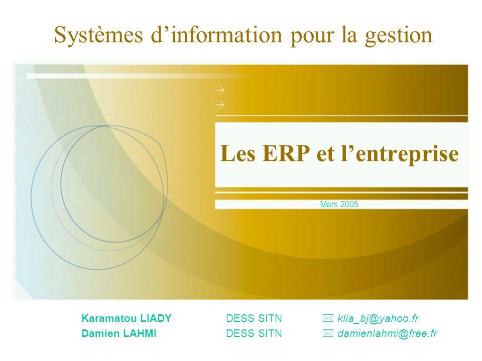 Les ERP et l'entreprise