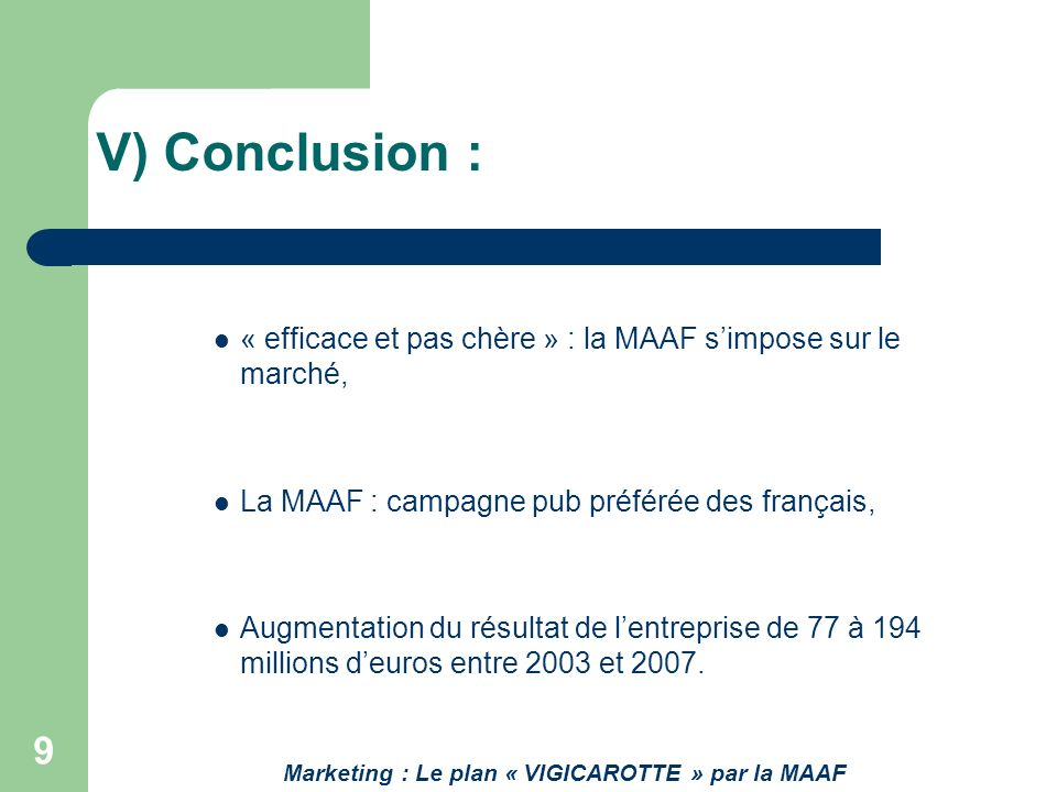 Marketing : Le plan « VIGICAROTTE » par la MAAF