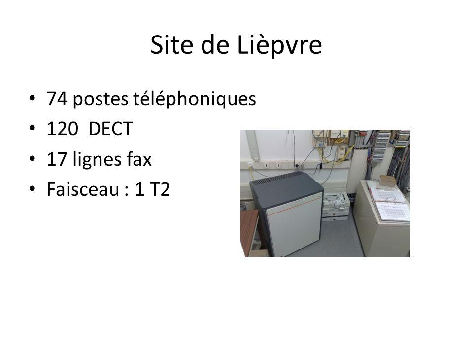 Site de Lièpvre 74 postes téléphoniques 120 DECT 17 lignes fax