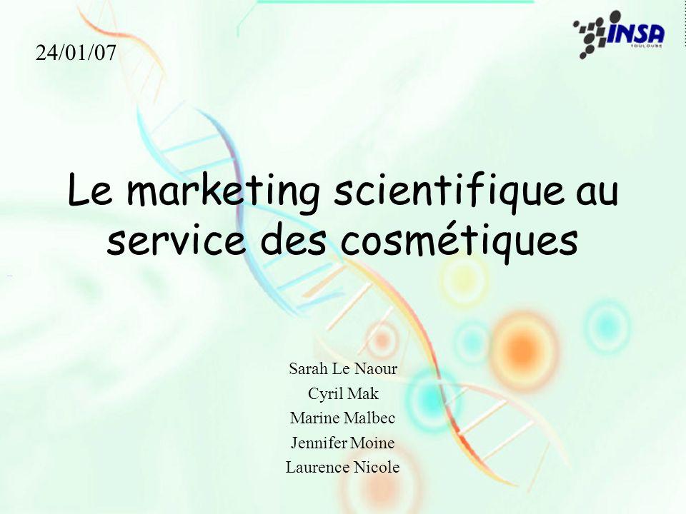 Le marketing scientifique au service des cosmétiques