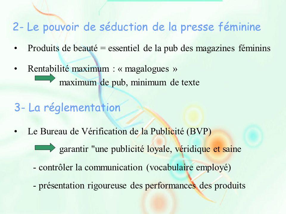 2- Le pouvoir de séduction de la presse féminine