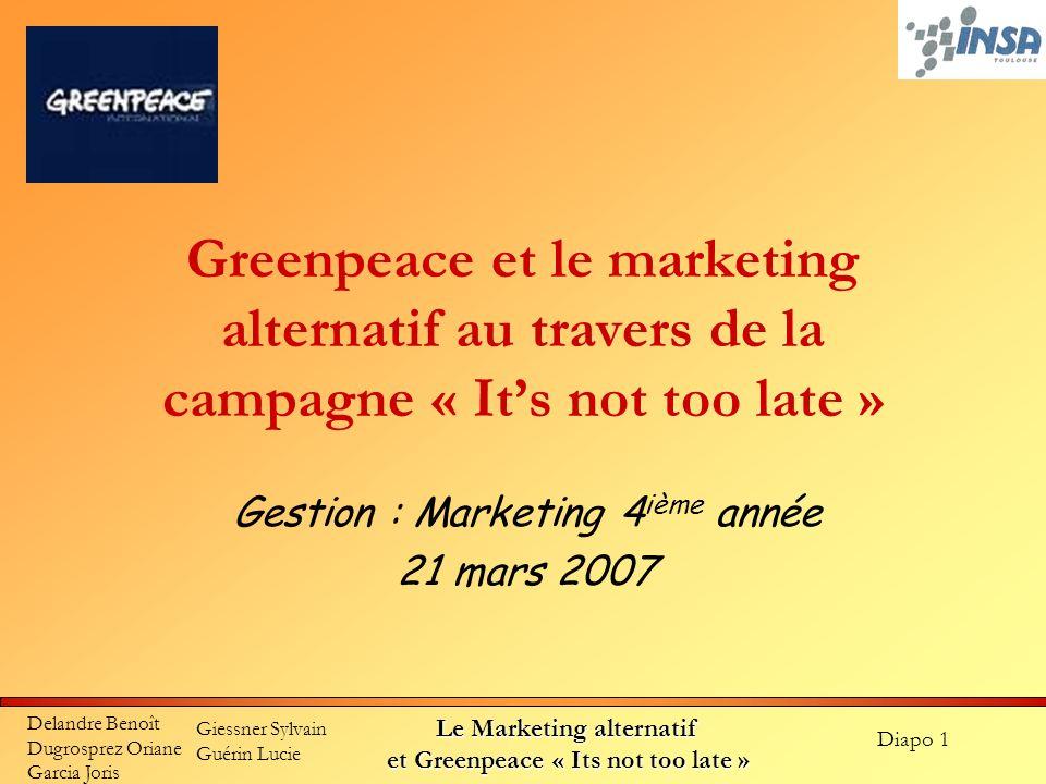 Gestion : Marketing 4ième année 21 mars 2007