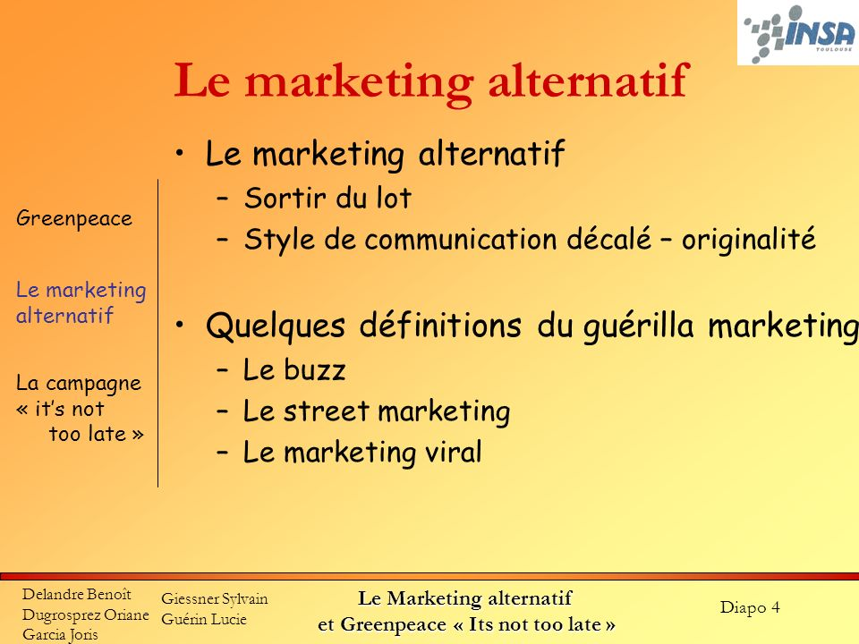 Le marketing alternatif