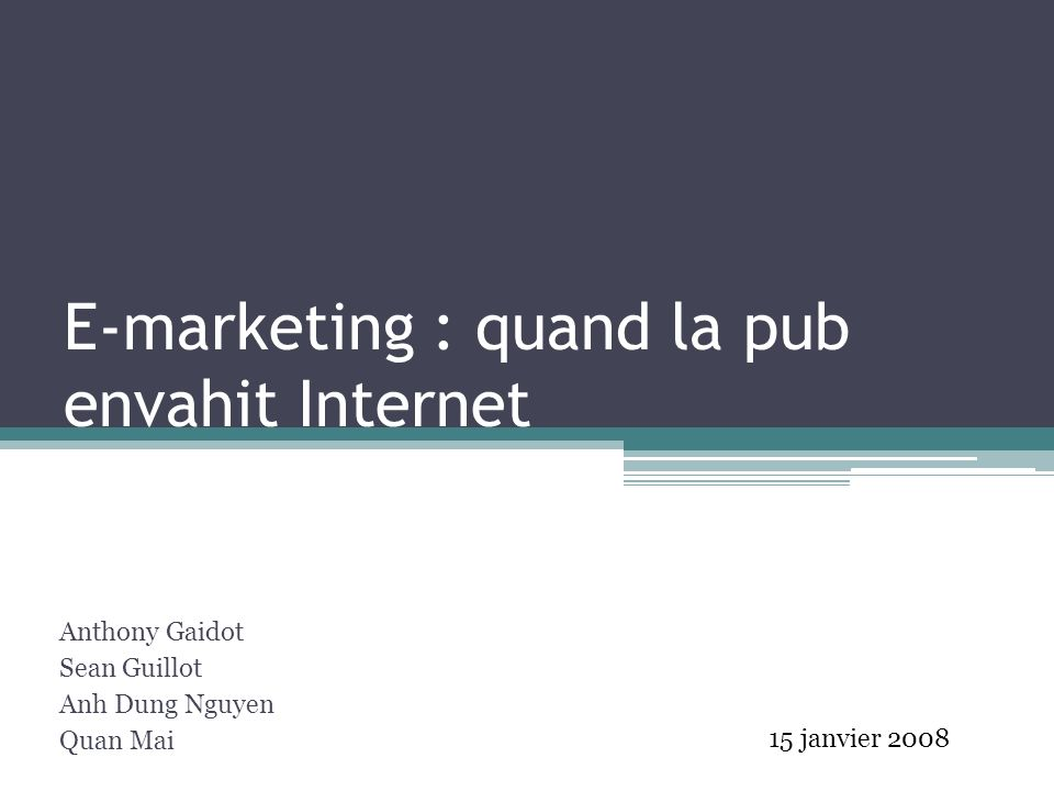 E-marketing : quand la pub envahit Internet