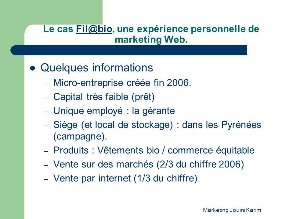 Le cas Fil@bio, une expérience personnelle de marketing Web.