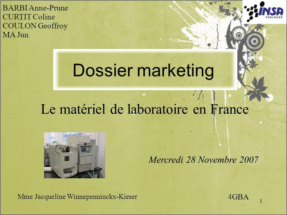Le matériel de laboratoire en France