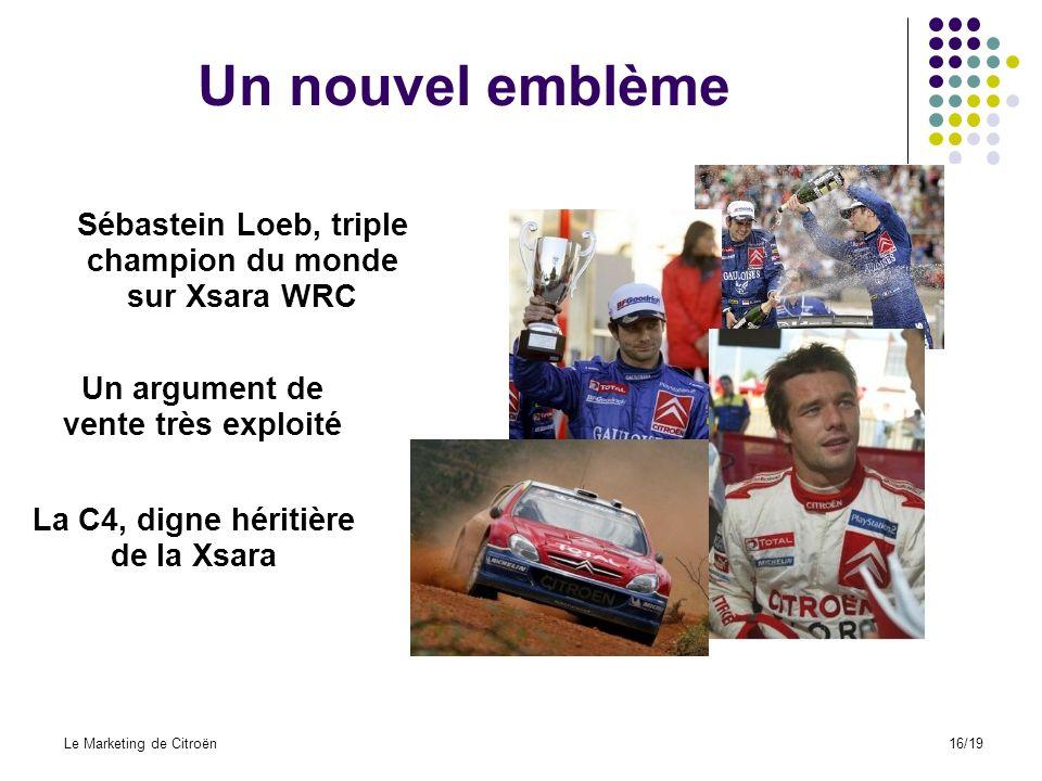 Un nouvel emblème Sébastein Loeb, triple champion du monde
