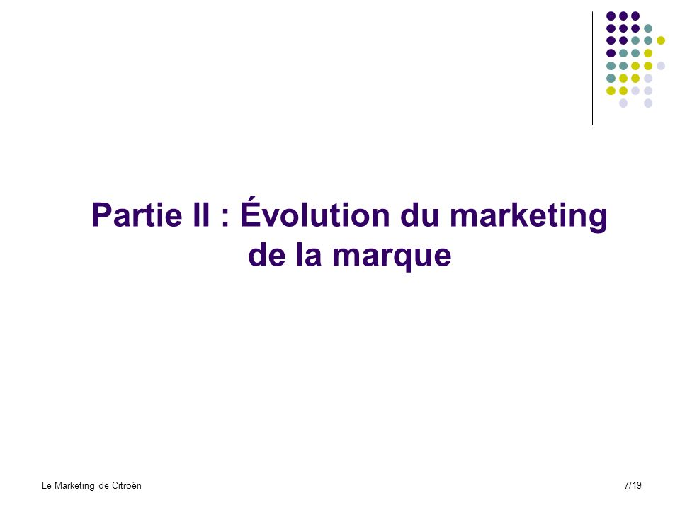 Partie II : Évolution du marketing de la marque