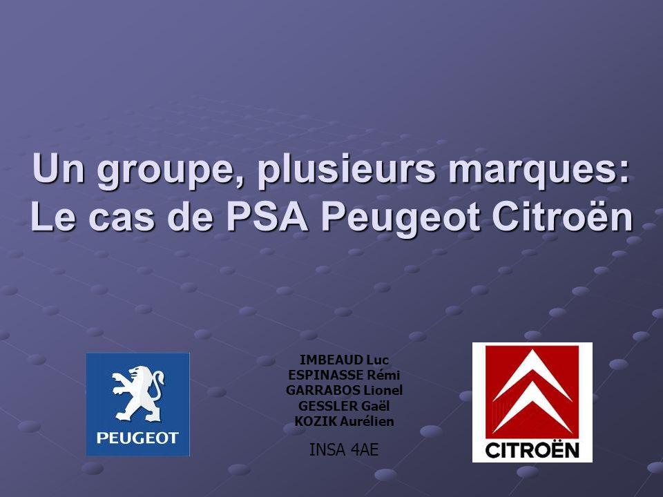 Un groupe, plusieurs marques: Le cas de PSA Peugeot Citroën