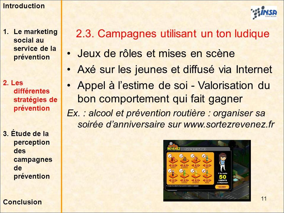 2.3. Campagnes utilisant un ton ludique