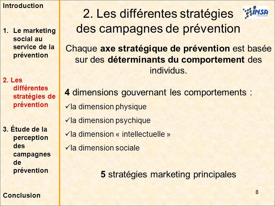 2. Les différentes stratégies des campagnes de prévention