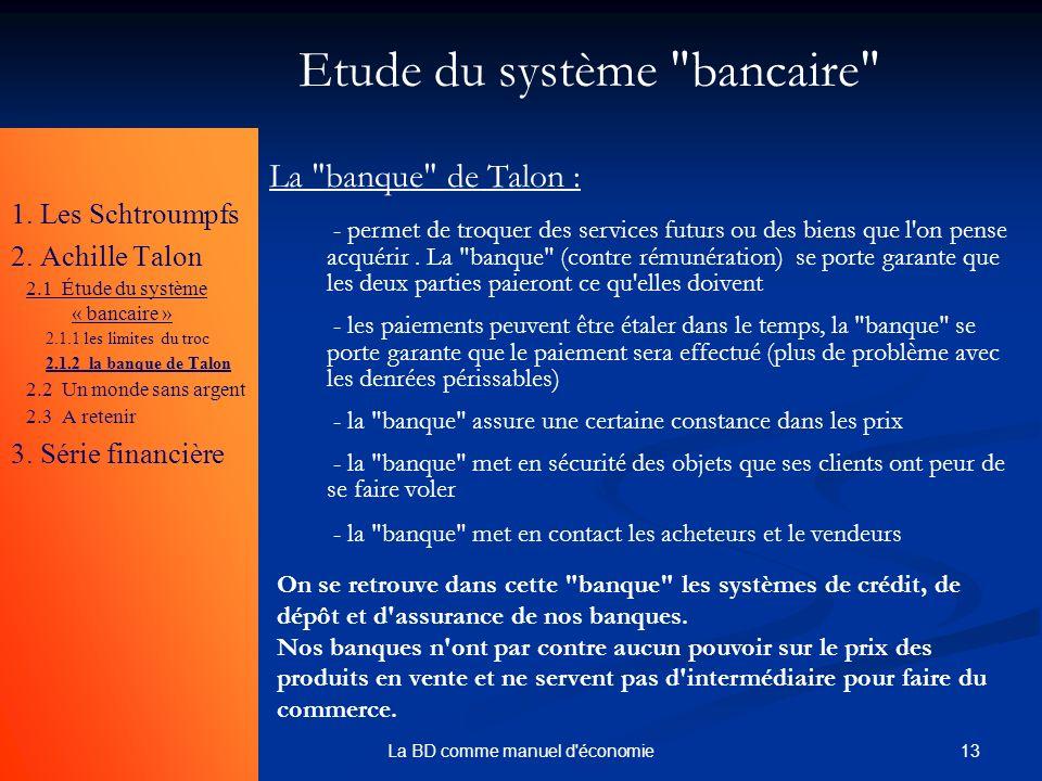 Etude du système bancaire