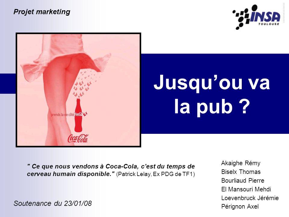 Jusqu'ou va la pub Projet marketing Soutenance du 23/01/08