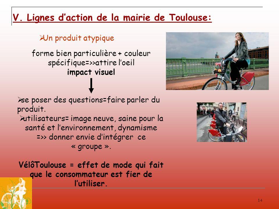 V. Lignes d'action de la mairie de Toulouse: