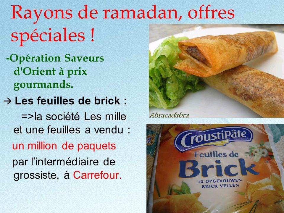 Rayons de ramadan, offres spéciales !