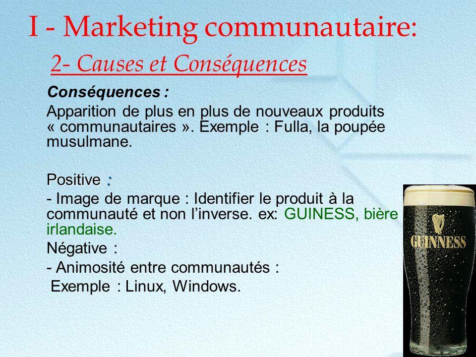 I - Marketing communautaire: 2- Causes et Conséquences