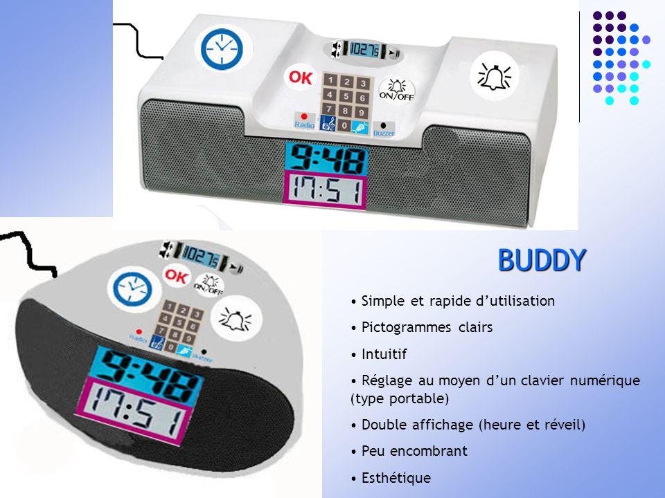 BUDDY Simple et rapide d'utilisation Pictogrammes clairs Intuitif