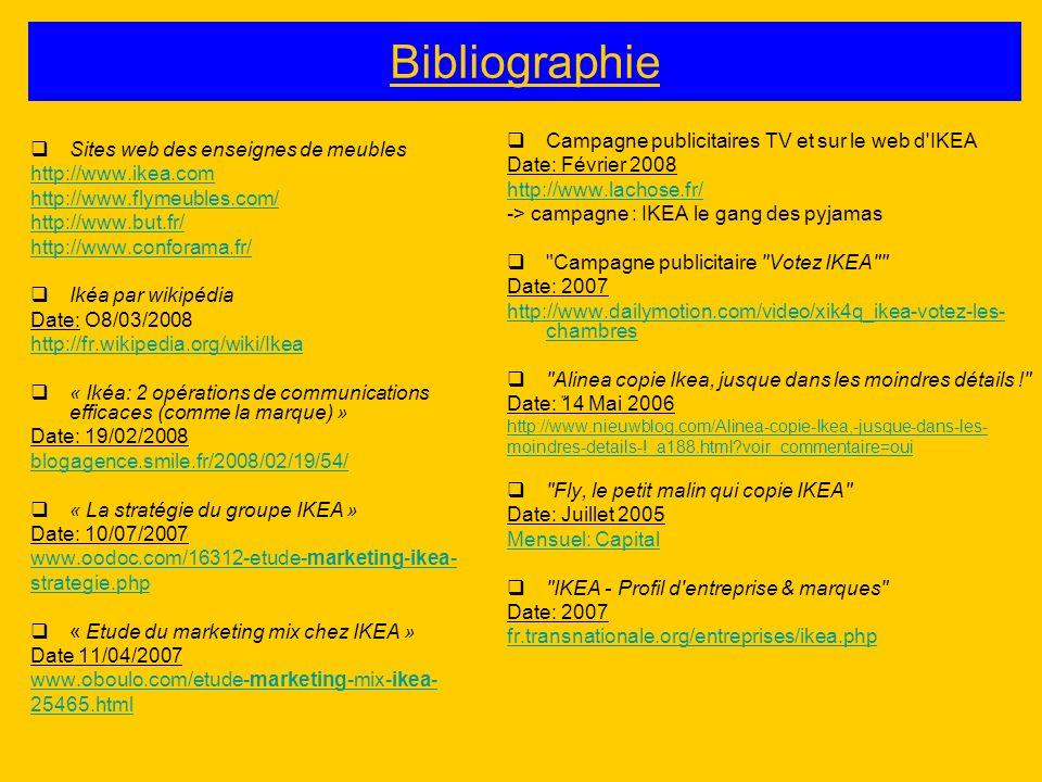 Bibliographie Campagne publicitaires TV et sur le web d IKEA