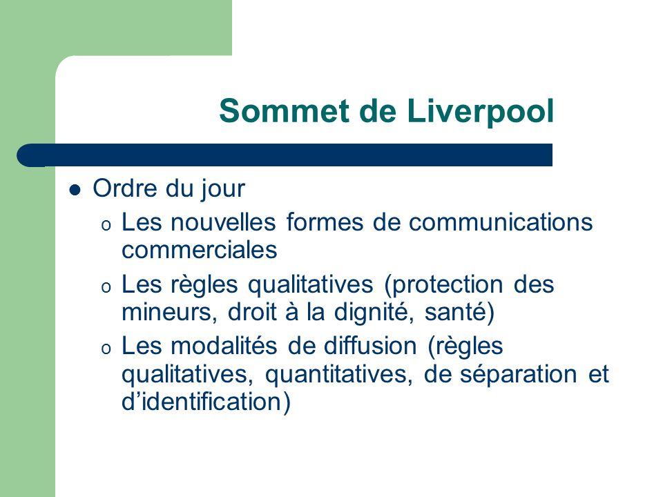 Sommet de Liverpool Ordre du jour