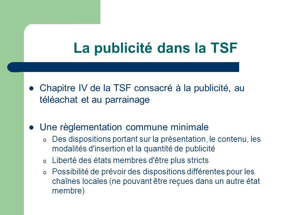 La publicité dans la TSF