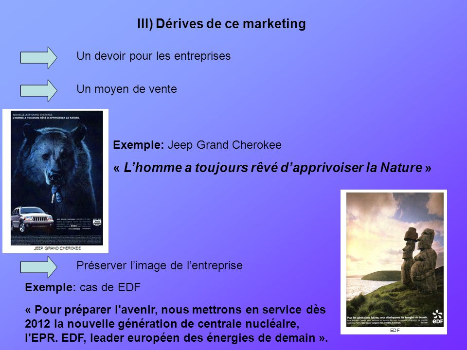 III) Dérives de ce marketing