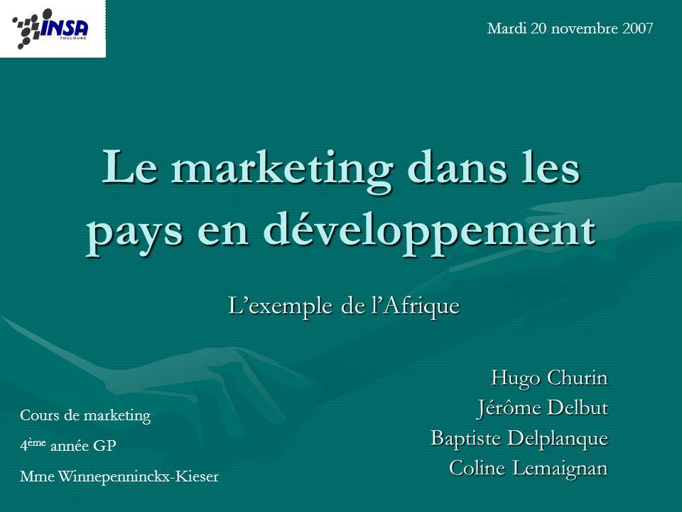 Le marketing dans les pays en développement