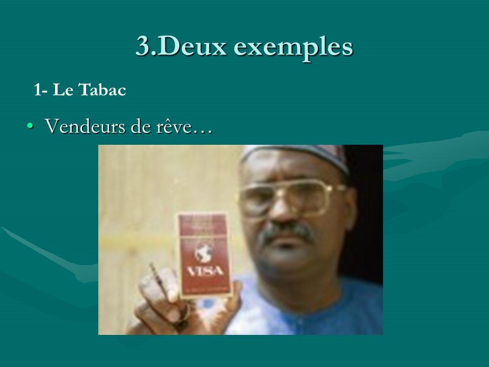 3.Deux exemples 1- Le Tabac Vendeurs de rêve…