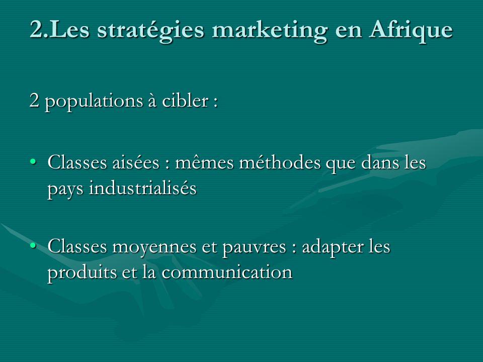 2.Les stratégies marketing en Afrique