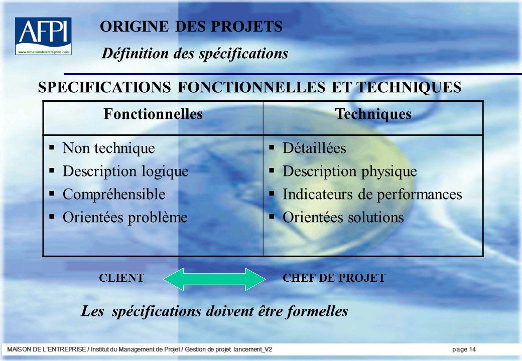 Fonctionnelles Techniques