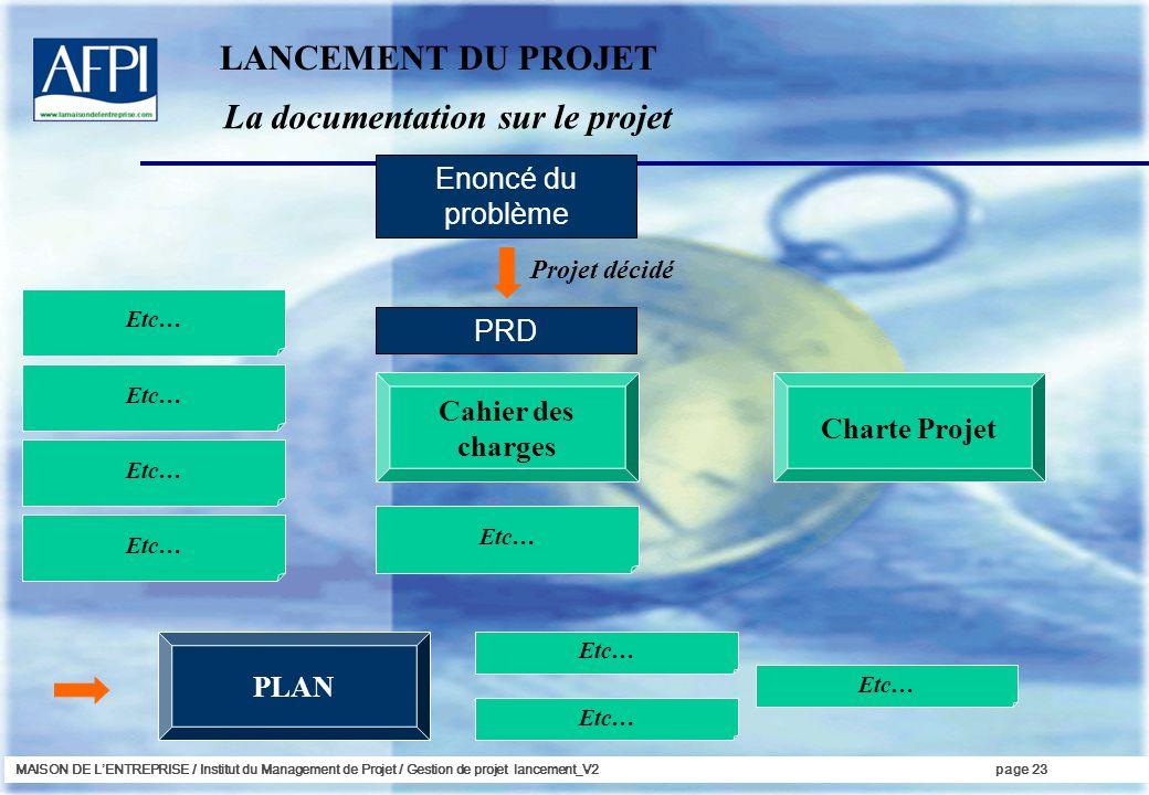 La documentation sur le projet