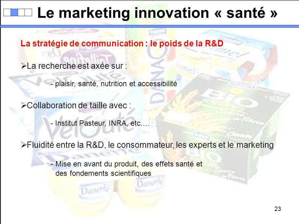 Le marketing innovation « santé »
