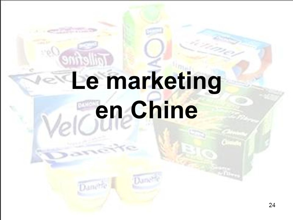 Le marketing en Chine