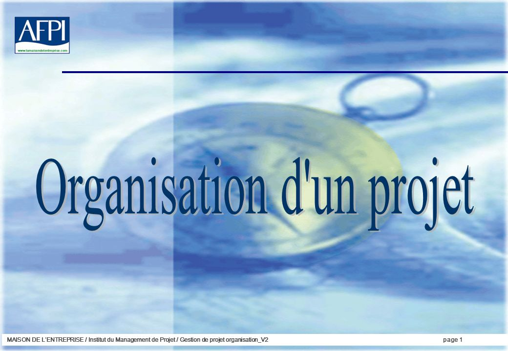 Organisation d un projet