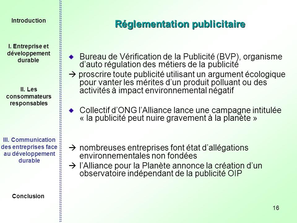 Réglementation publicitaire
