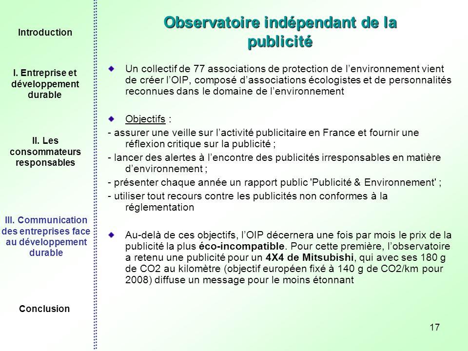 Observatoire indépendant de la publicité