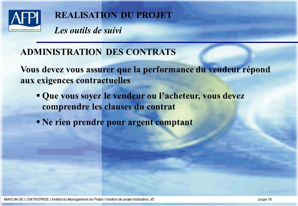 ADMINISTRATION DES CONTRATS