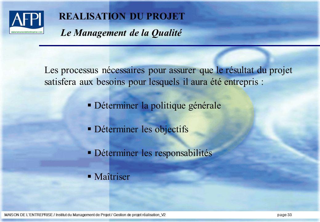 Le Management de la Qualité