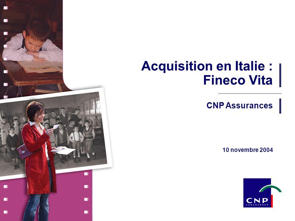 Acquisition en Italie : Fineco Vita