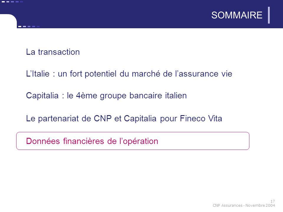 SOMMAIRE La transaction