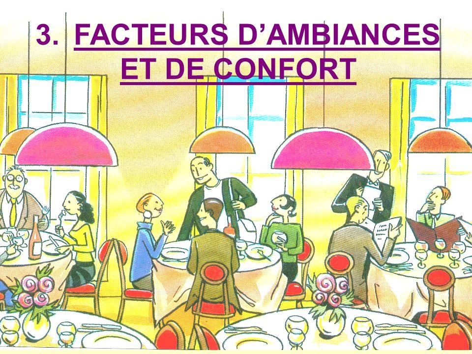 3. FACTEURS D'AMBIANCES ET DE CONFORT