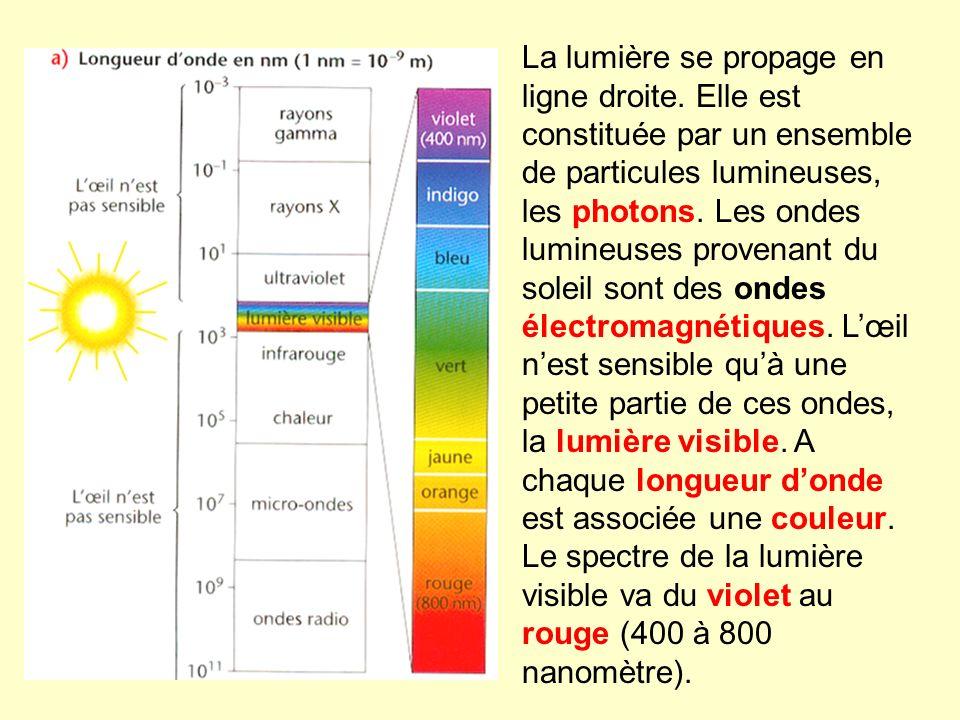 La lumière se propage en ligne droite